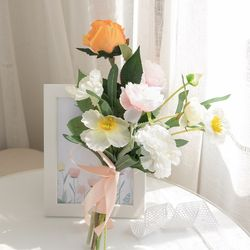 올리브러넌부케 33cmP 조화 꽃 웨딩 결혼 축하 FMBBFT