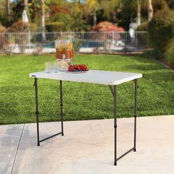 라이프타임 접이식 테이블 T4428 (높이조절OK) 야외 실내 테이블