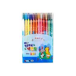 8000 빙글빙글색연필 (24색블루)