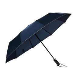 빛반사 방풍 완전자동 3단 우산(네이비)