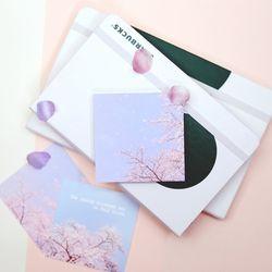 감성 사진 떡메모지  Cherry Blossom