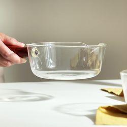 내열 유리볼 접시 그릇 (대) 파스타 라면용기 국그릇