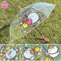 몰랑 투명 우산 60cm(랜덤) 유아 어린이 초등학생 안전우산