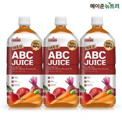 퓨어 대용량 ABC주스 NFC 착즙 1000ml 3병