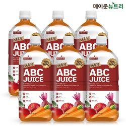 퓨어 대용량 ABC주스 NFC 착즙 1000ml 6병