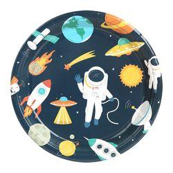 생일 파티접시 18cm (10개입) 우주여행