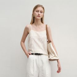 SEWING LACE SLEEVELESS BEIGE