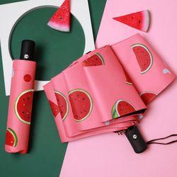 장마철우산 접이식우산 프룻프릇 3단 반자동 양우산