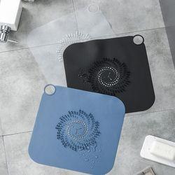 욕실 하수구트랩 물이 잘빠지는 실리콘 거름망 2장