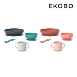 에코보 실리콘 토들러 식기 세트(4P) 2color