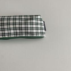 삼각 초록심플 필통