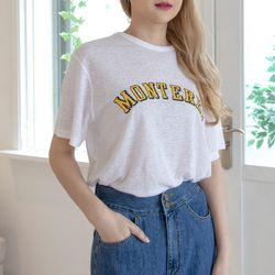 P9829 린넨 레이온 나염 루즈핏 티셔츠