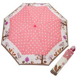 A1640 부엉이 핑크 3단자동우산