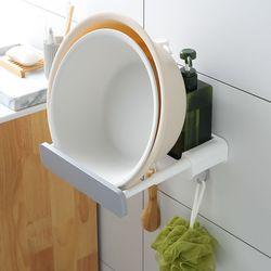 더홈 접착식 대야거치 욕실선반(그레이)