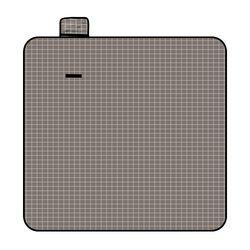 모던체크 방수돗자리(150x150cm) (그레이+화이트)