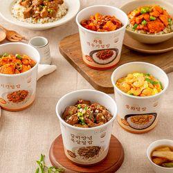 띵커바디 미니컵밥 4종 (차돌깍두기갈비양념목살치킨중화)