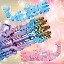 멜로디 LED 자동 게틀링 버블건/비눗방울 놀이 장난감