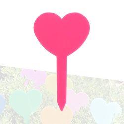 미미네가든 하트 식물 이름표 (핑크) 1개 -화분픽