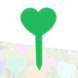 미미네가든 하트 식물 이름표 (그린) 1개 -화분픽