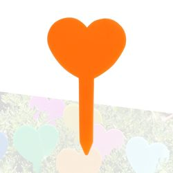 미미네가든 하트 식물 이름표 (오렌지) 1개 -화분픽