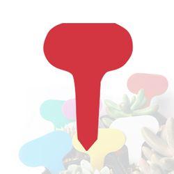 미미네가든 타원형 식물 이름표 (레드) 1개 - 화분픽