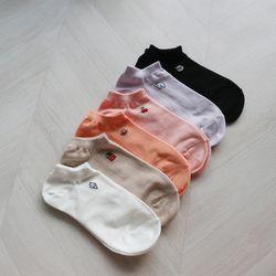 기본 스니커즈 발목 운동화 학생 양말 (6color)