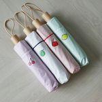 심플 과일 UV차단 암막3단 20대 양산 우산 우양산 (4color)