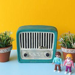 엔틱 칼라 라디오