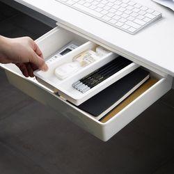 구디푸디 접착식 붙이는 책상밑 미니 슬라이딩 히든 서랍 수납함