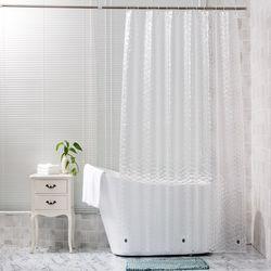 구디푸디 투명 욕실 방수 샤워 커튼