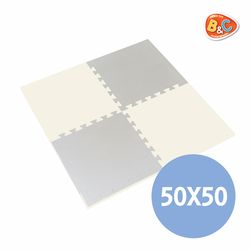 홈트 크림 베이지 양면퍼즐매트 22T 50x50 4P
