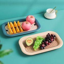 구디푸디 다용도 야채 과일 사각 채반