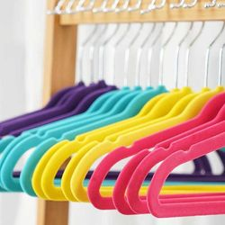 Velvet Non Slip 옷걸이 유아용 50P 4color CH1577352