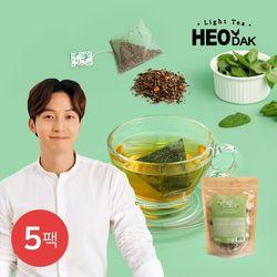 [무료배송] [허닭] 라이트티 콤부차 유자민트 5팩(1.5gX20개입)