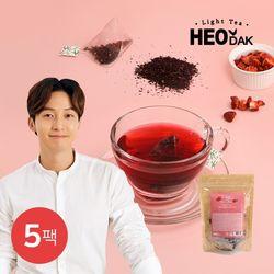 [무료배송] [허닭] 라이트티 콤부차 히비스커스 5팩(1.5gX20개입)