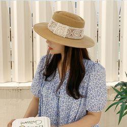 보터햇 여름 페도라 모자 레이스띠 파나마햇 와이드챙