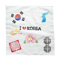 우리나라상징 스텐실 손수건(3인세트)