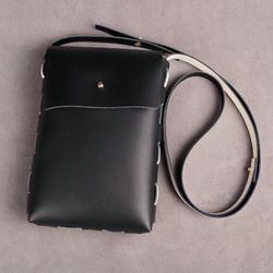 가죽공예DIY 바느질이 필요없는 양면 크로스 가방 만들기 10세트