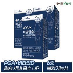 어골칼슘 PGA(폴리감마글루탐산) 앤 마그네슘 3병 (3개월분)