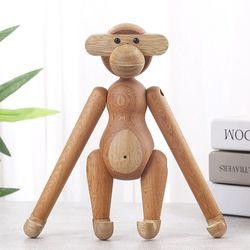 카이보예센 로젠달 원숭이 목각 나무 우드 인형 장식품 인테리어