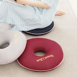 원형 에어메쉬 3색 도너츠 쿨 방석 + 전용세탁망