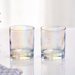 아크프랑스 홀로그램 오로라 아랜 300ml 2P 홈카페유리컵