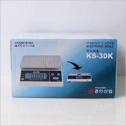 경인 단순중량 전자저울 KS-30K(30kg10g)듀얼 LCD창