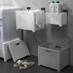 구디푸디 접이식 벽걸이 빨래바구니 세탁물 보관함