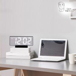 LED 미러 탁상시계(B형) 알람시계 LED시계 무소음