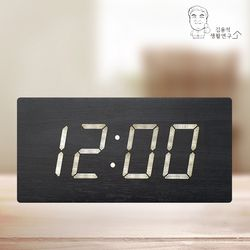 LED 클래식 우드 탁상시계 알람시계 LED시계 무소음