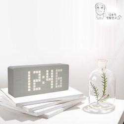 LED 프리미엄 우드 탁상시계 알람시계 LED시계 무소음