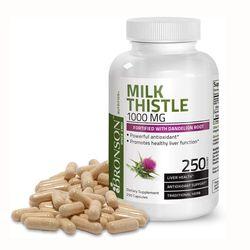 브론슨 밀크씨슬 1000mg 250캡슐 실리마린 8개월분