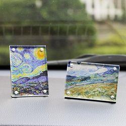 투명 아크릴 미니 자석 액자 차량용 탁상용 55x80