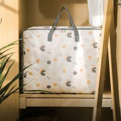 의류 이불 정리함 짐가방 발자국 프린팅 스퀘어백 (대형)